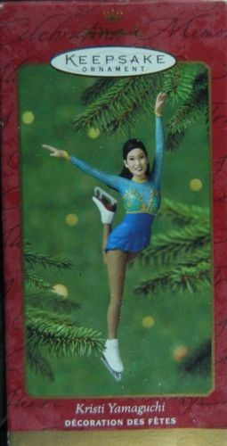 2000 KRISTI YAMAGUCHI Hallmark Five Inch Figure Skating ORNAMENT New in Box