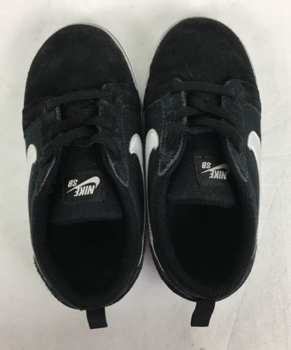 Nike Toddler Boys SB Satire II Black Suede Skateboard Sneakers Shoes Size 10C