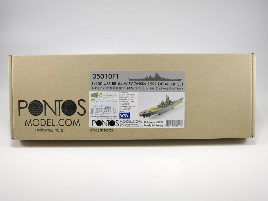 Pontos Model 1/350 USS Wisconsin 1991 Detail Up Set 35010F1 (for Tamiya) +Bonus!