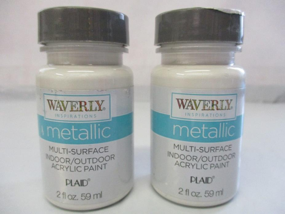 Waverly Inspirations Metallic Acrylic Paint Indoor/Outdoor Opal 2 oz.- 2 Pack