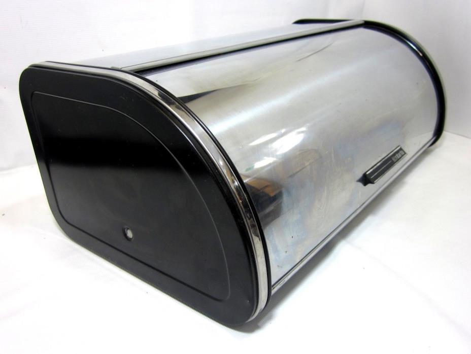 BRABANTIA Stainless Steel Roll Top Bread Box Belgium