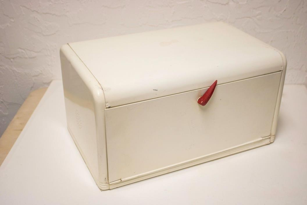 vintage breadbox, White