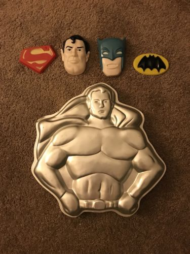 Vintage Wilton 1977 Superman/Batman Cake Pan