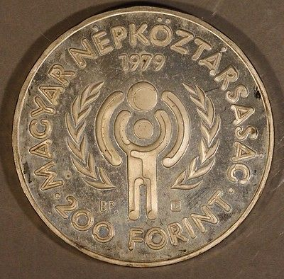 1979 Hungary 200 Forint Proof                           ** FREE U.S SHIPPING**