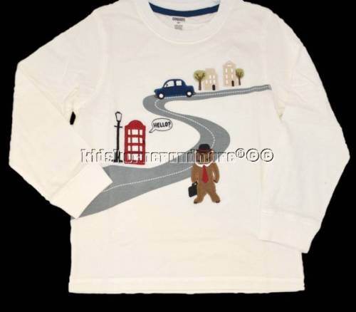 Gymboree London Ladd 4T Bear Street Shirt Top Winter Ivory Red