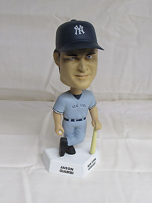 Jason Giambi 2002 Upper Deck Playmakers Bobblehead Yankees Grey Jersey