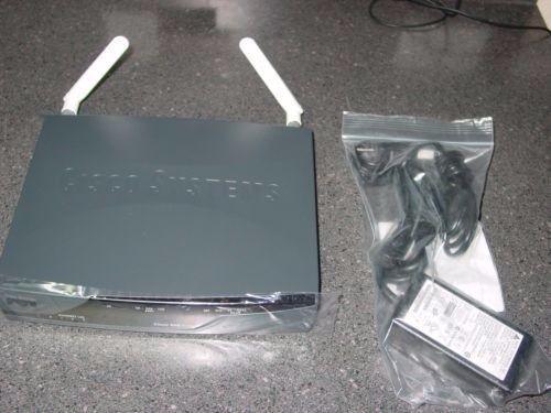 Cisco CISCO877W-G-E-M-K9 w/ Wireless Router W/ POWER SUPPLY & Antennas