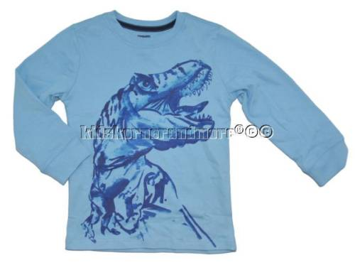 Gymboree Mix n Match 4T Blue Dinosaur Shirt Dino Fall Winter