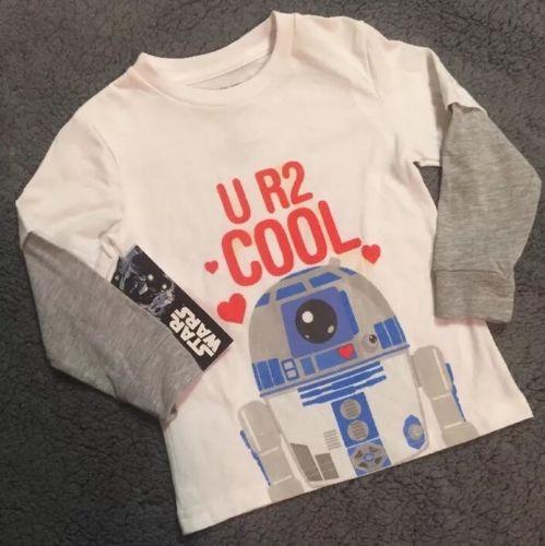 Star Wars Valentine's Day T-Shirt Toddler 2T *NWT*R2D2 UR 2 Cool*Valentines