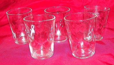 Set of Five Clear Shot Glasses - EUC
