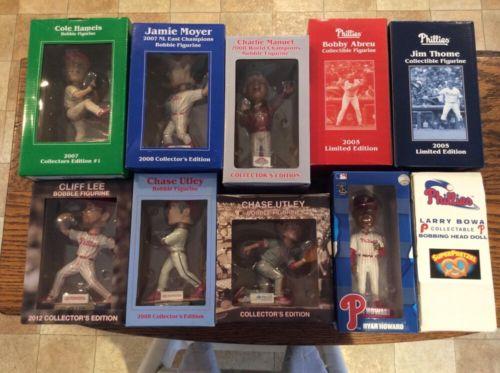 10 Philadelphia Phillies Bobble Head SGA Collection Lot Utley Manuel Thome Lee