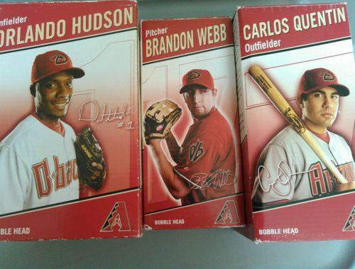 Arizona Diamondbacks bobbleheads lot of 3 Webb, Hudson, Quentin