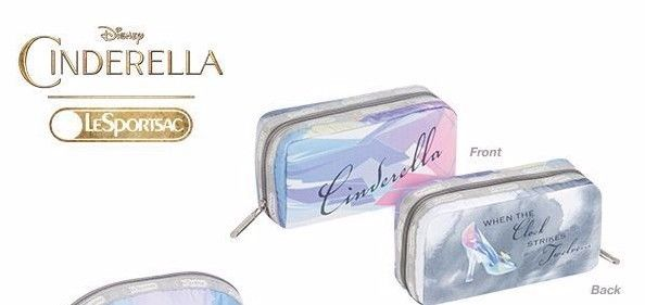 Disney LeSportsac CINDERELLA Cosmetic Bag Once Upon a Moment Rectangular Pouch