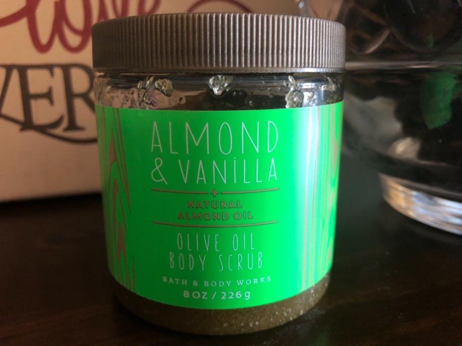 Bath and Body Works Almond & Vanilla Body Scrub 8oz. New Sealed ships next day