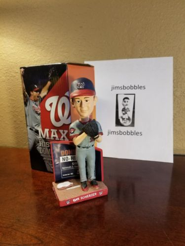 Max Scherzer No Hitter #2 Washington Nationals NIB 2016 SGA Bobblehead