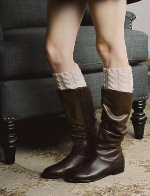 Khaki Ombre Knit Boot Cuffs