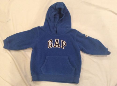Baby Gap Baby Boys' Blue Pullover Hooded Sweatshirt 18-24 Months