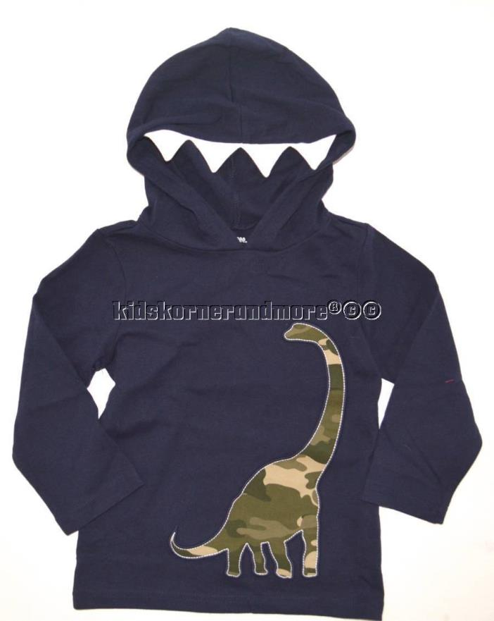 Gymboree Desert Exporer 3T Hooded Camo Dino Tee Dinosaur New Navy Twins Hoodie