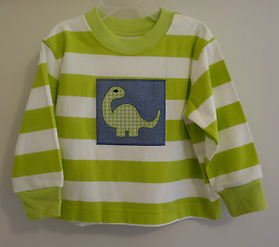 *Brand New* Kelly's Kids Ryan Dinosaur Patch Applique Shirt ~ Boy's Sz 12 Month