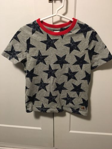 Baby Gap Toddler Boy Star Tee-4 Years-gray/navy
