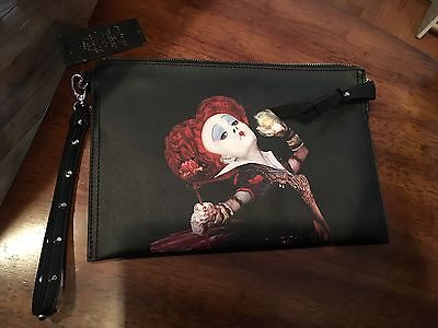 DISNEY ALICE IN WONDERLAND PURSE HANDBAG CLUTCH COLLEEN ATWOOD MINT NWT