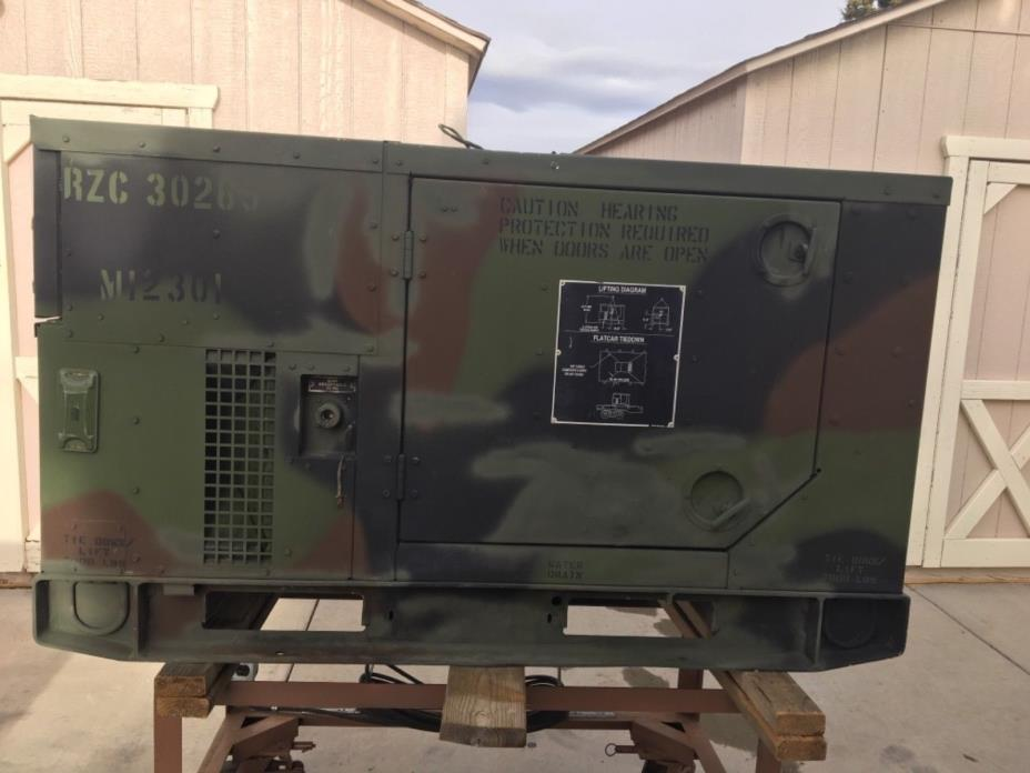 Military Generator set skid mounted, tactical quiet MEP-813A