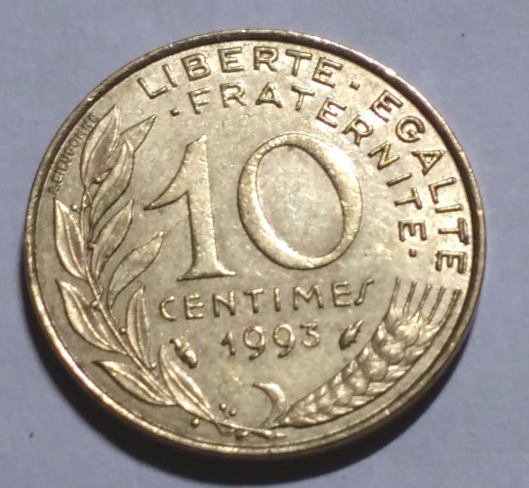 1993 10 Centimes France Coin