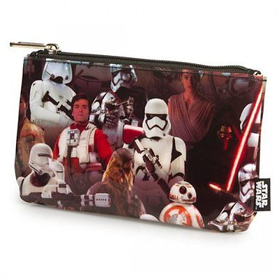 NEW Star Wars: The Force Awakens Multi Character Pencil Cosmetic Coin Case