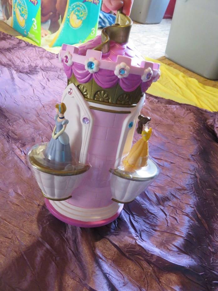 Authentic Disney Store Princess Castle Piggy Bank Belle/Cinderella/Aurora