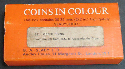 Vintage - Greek Coins In Colour 6th Century - Alexander The Great 35mm Slides