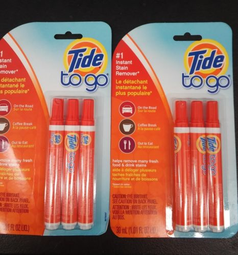 New Tide To Go Instant Stain Remover Liquid Pen, 3 Count Pack (2 packs)