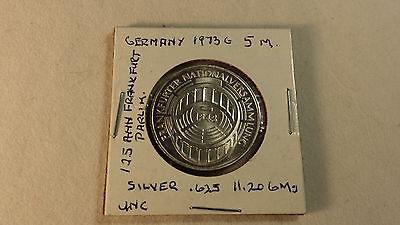 1973 G Germany Frankfurt Parliament Silver 5 Deutsche Mark