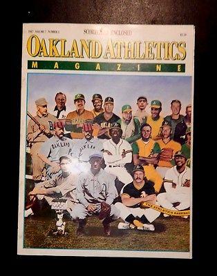 OAKLAND A's  ATHLETICS MAGAZINE 1987 VOL. 7 #2 EXCELLENT CONDITION MLB