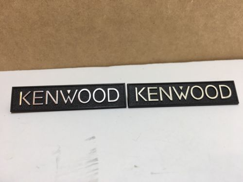 Kenwood speaker grill emblems badges