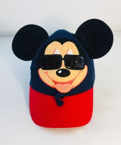 Disney Parks Mickey Mouse Baseball Cap with Ears and Sunglass Holders Toddler