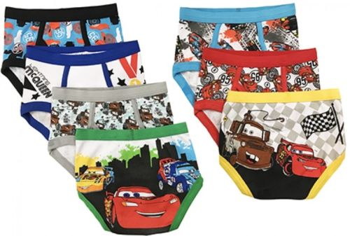 Disney Toddler Boys' Cars Favorite Characters Underwear, 7-Pack