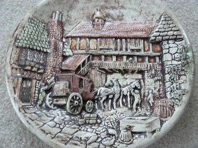 Decorative plate, 3-D pottery plate