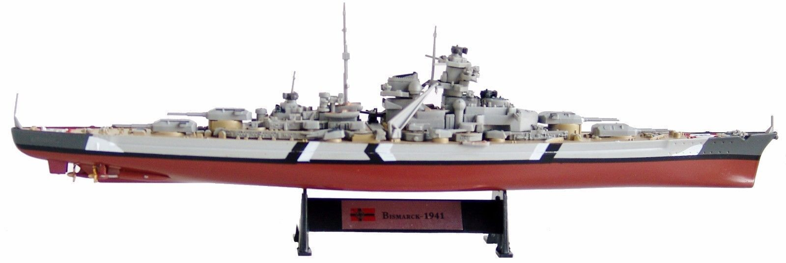 Bismarck 1941-1/1000 Warship of World War II Collection **US Seller**