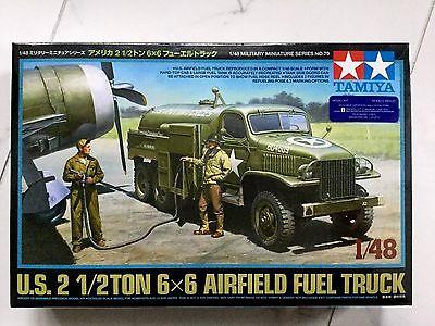 TAMIYA 1/48 WW II U.S. ARMY 2-1/2 TON 6 X 6 AIRFIELD FUEL TRUCK MODEL # 32579 FS
