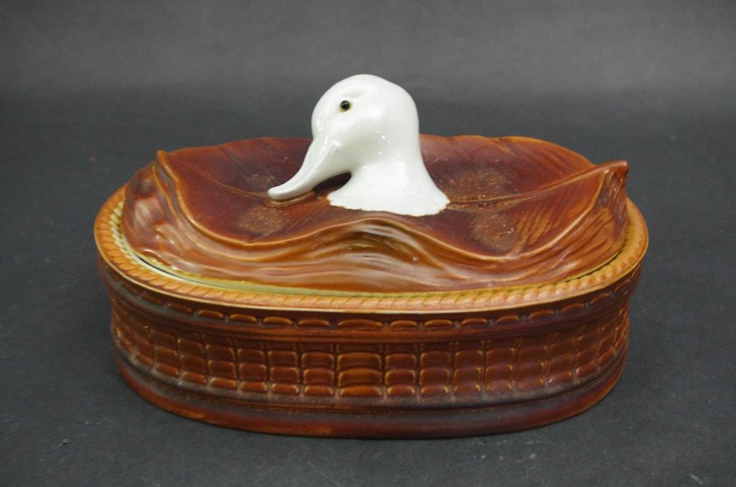 VINTAGE OVEN KING RUSTICANA ITALY Duck Head CASSEROLE BAKING DISH w Lid