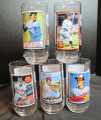 McDonalds All Time Greatest Team 1993 5 Tumblers Ripken Bench Ryan Ruth Benched
