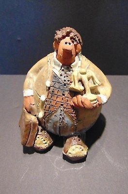 SARA MEADOWS - THE LAWYER - SIGNED CLAY FIGURINE - BALOON PEOPLE