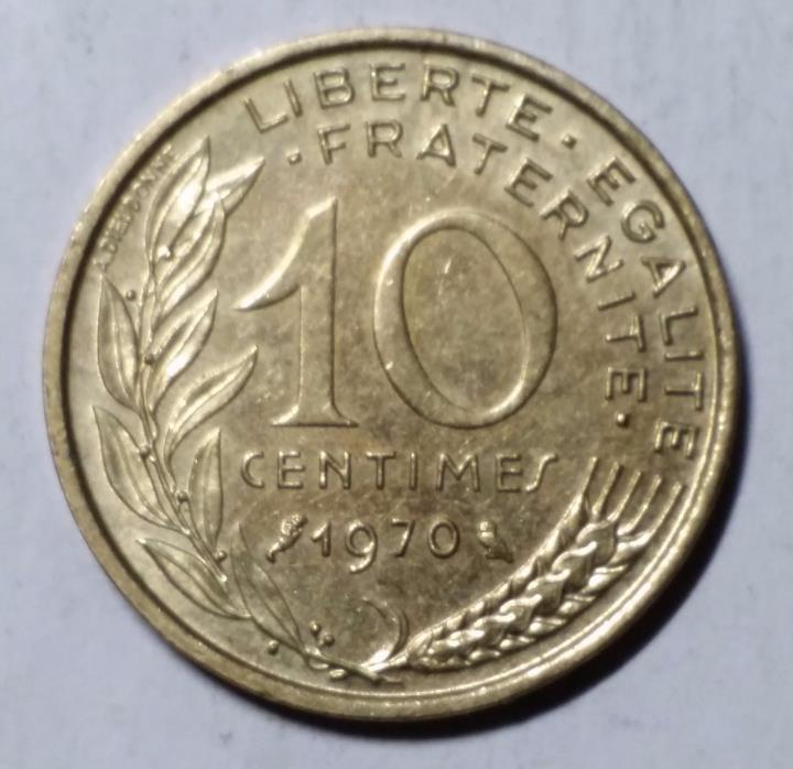 1970 10 Centimes France Coin