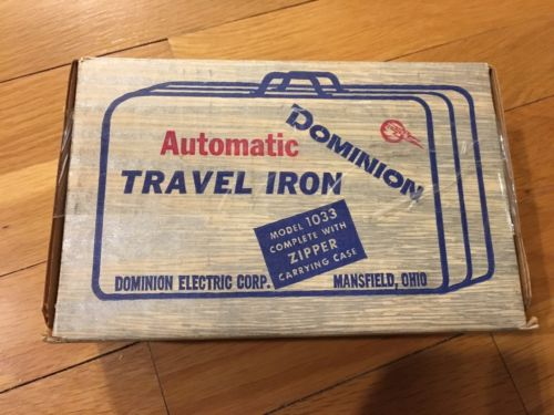 Vintage Dominion Model 1033 Automatic Travel Iron USA EUC