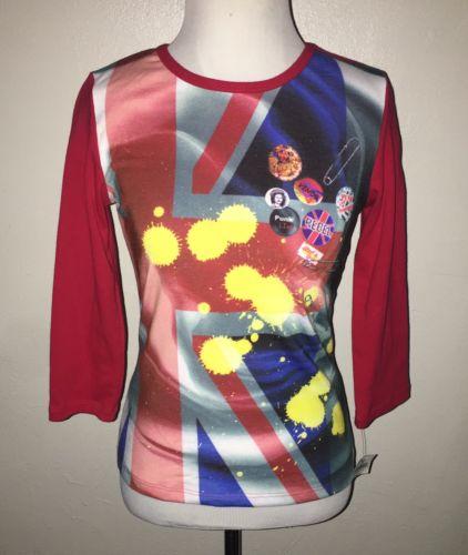 NWT Walt Disney World Womens Size Mes British UK Punk Knit Top T