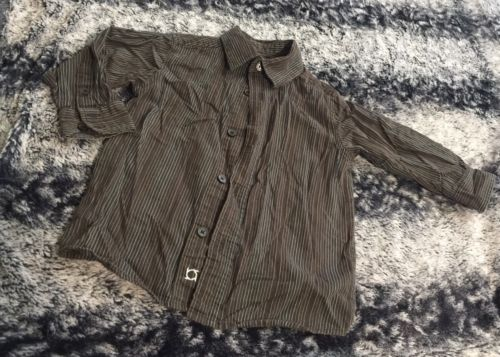 Kenneth Cole Reaction Toddler Boys 2T Striped Button Down Long Sleeve Shirt