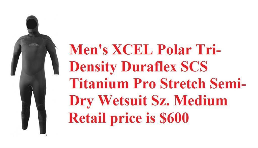 Men's XCEL Polar Tri Density Duraflex SCS Titanium Pro Stretch Semi-Dry Wetsuit