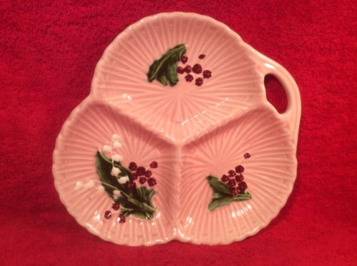 Pink German Majolica Lily of the Valley Tray, gm781  GIFT QUALITY!!