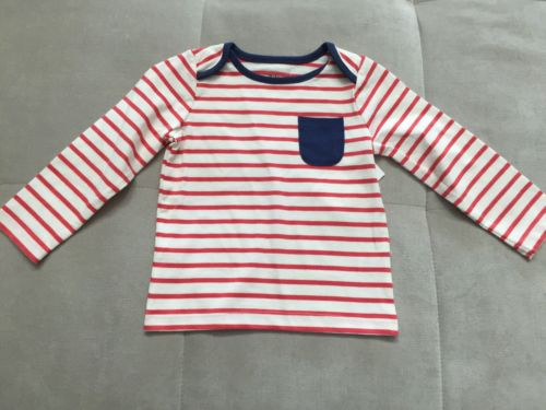 Baby Boden Boys Shirt Size 12-18 Month Red White  Blue Stripes