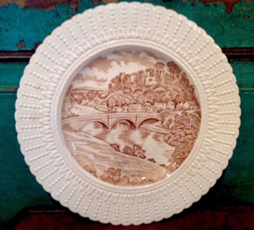 Antique Royal Cauldon England Plate, Ludlow Castle & Dunham Bridge, England